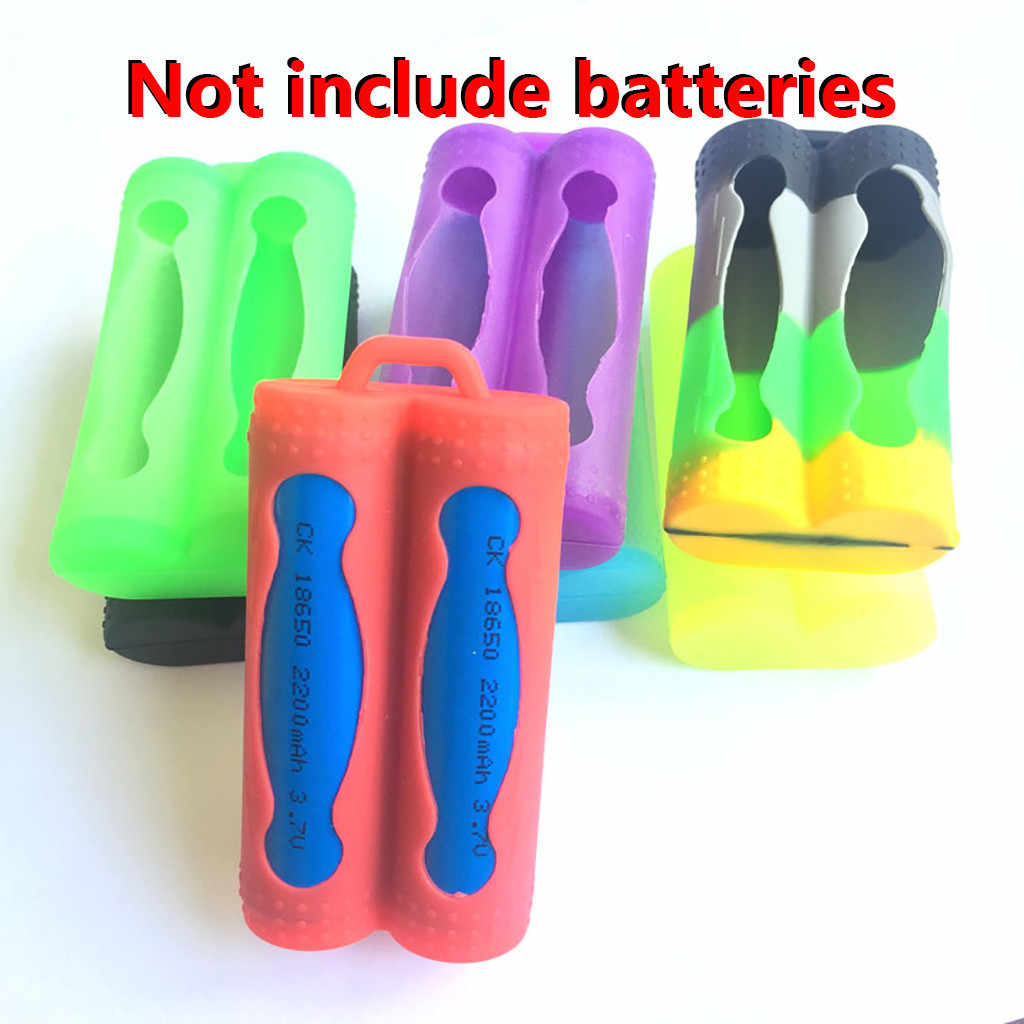 Two Battery Cover Protective Case Colorful Silicone For 18650 Battery Leakage Prevention Battery Cover Home Decor Accessories