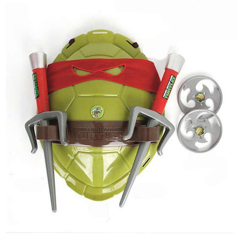 ของเล่นเด็กคอสเพลย์เต่าเกราะอาวุธอาวุธ Raphael Michelangelo Leonardo Cosplay หน้ากากเปลือก Props ปาร์ตี้สำหรับเด็ก