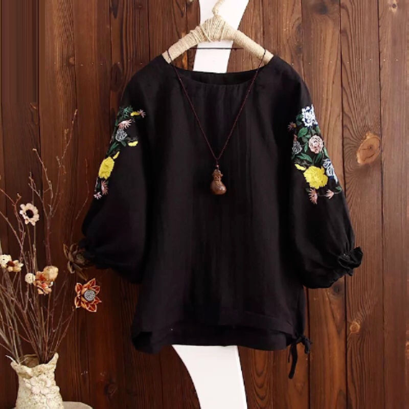 Floral Embroidery Tops 3