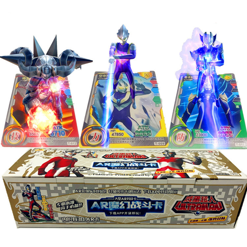 Takara Tomy Altman Card 180pcs Flash Card 3D Version AR Ultraman Interactive Shining Cards Collectible Gift Children Toy