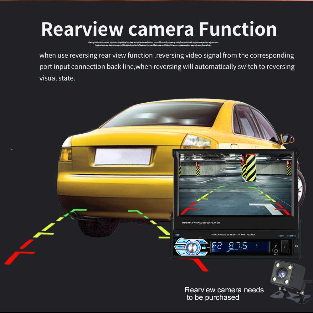 """Jeden 1 Din Radio samochodowe samochodowa radiowa nawigacja gps multimedia bluetooth MP5 odtwarzacz wideo 1din 7 """"ekran dotykowy HD AUX-IN FM/USB 9601G"""