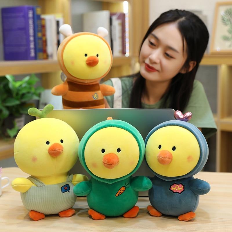 1pc 25cm Cute Stuffed Chicken Plush Toys Creative Dinosaur Bee Heart Chick Doll for Kids Baby Cartoon Lovely Birthday Gift