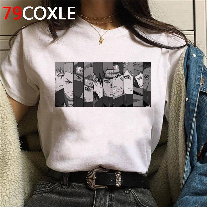 Naruto Summer Harajuku Cool Tshirt Unisex 90s T Shirt Japanese Anime Funny Cartoon T-shirt Streetwear Hip Hop Top Tees Male