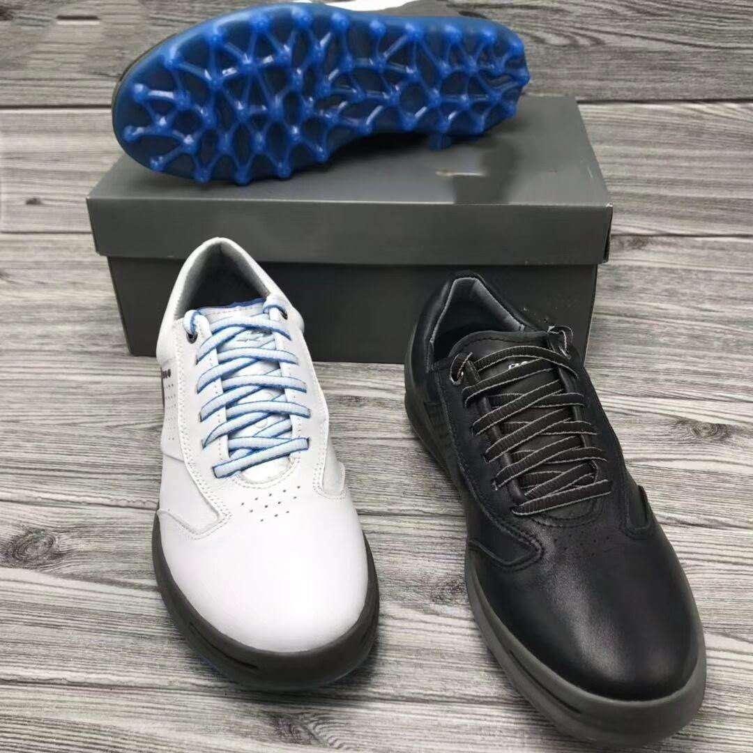 Marca Homens Sapatos de Golfe de Couro