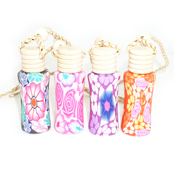 Clay Perfume Bottle Soft Pottery Bottle 10ml Wooden Cover Aromatherapy Refillable Bottles Aroma Vials 25pcs/lot