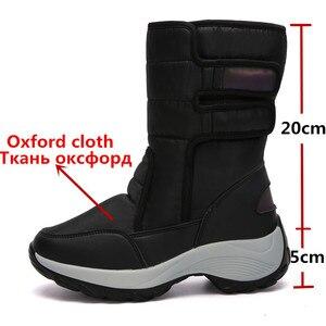 Image 2 - MORAZORA 2020 śniegowe buty wodoodporne antypoślizgowe grube futro ciepłe zimowe buty okrągłe toe płaski obcas buty damskie botki