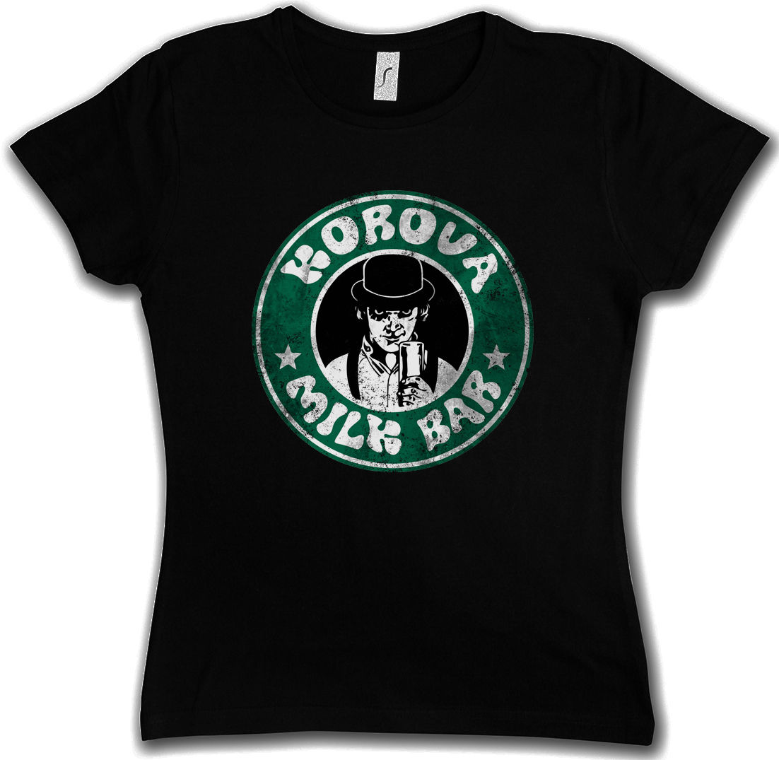Korova Milk Bar T-Shirt Alex Clockwork Stanley Bar Orange Delarge <font><b>Kubrick</b></font> Punk image