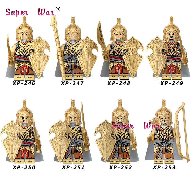 Single Elves Gondor Fountain Guard Sword Lancers Game Of Thrones Gendry Medieval Archers Series Building Blocks Toys