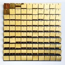 Cor de ouro sequin painel casamento pano de fundo personalizado anunciando canta loja janela fundo glam shimmer sequin parede 3d adesivo