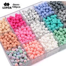 HOT 9MM Round Loose Silicone Beads For Silicone Necklace DIY Silicone Teething Necklace Silicone Beads For Baby Teether BPA Free