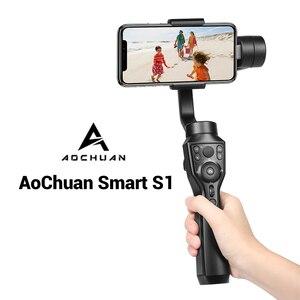 Image 4 - AoChuan SMART XR/S1 stabilizzatore telefonico palmare a 3 assi con giunto cardanico Bluetooth per IOS Android PK Smooth 4 MOZA MINI MX Hohem Isteady X