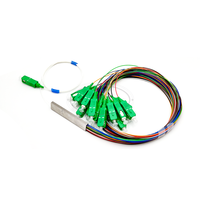 PLC Optical Splitter SC APC 1X16 FTTH Fiber Optic Splitter FBT Optical Coupler