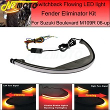 Błotnik motocyklowy Eliminator zestaw tylne światła sekwencyjne płynące światło kierunkowskazu LED dla Suzuki Boulevard M109R M90 2006 UP