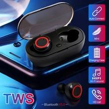 A2 tws bluetooth fones de ouvido botão controle sem fio 5.0 bluetooth headhones esporte alta fidelidade longa vida da bateria fone ruído