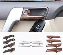 4 шт. автомобиль накладка на внутреннюю дверную ручку Накладка для Toyota Land Cruiser Prado FJ150 2010-2018 автомобильные аксессуары