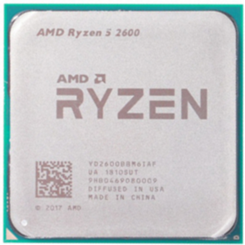 AMD <font><b>Ryzen</b></font> <font><b>5</b></font> <font><b>2600</b></font> R5 <font><b>2600</b></font> 3.4 GHz Six-Core Twelve-Core 65W CPU Processor YD2600BBM6IAF Socket AM4 image