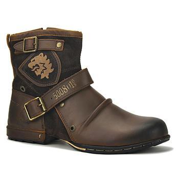 Anglia oryginalne skórzane buty buty męskie buty jeździeckie mężczyźni futro Vintage motocyklowe buty męskie jesienne kostki wysokie buty tanie i dobre opinie CN (pochodzenie) ANKLE Plus size 5008-8-YS Embossed Leather Full Grain Leather Medium(B M) Sewing Fashion Boots Flat (0 to 1 2 )