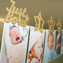 2.2 M Christmas New Year Glitter Baby First Birthday Banner Birthday Banner 1st Birthday Banner Photo Banners Garland with Clips(China)