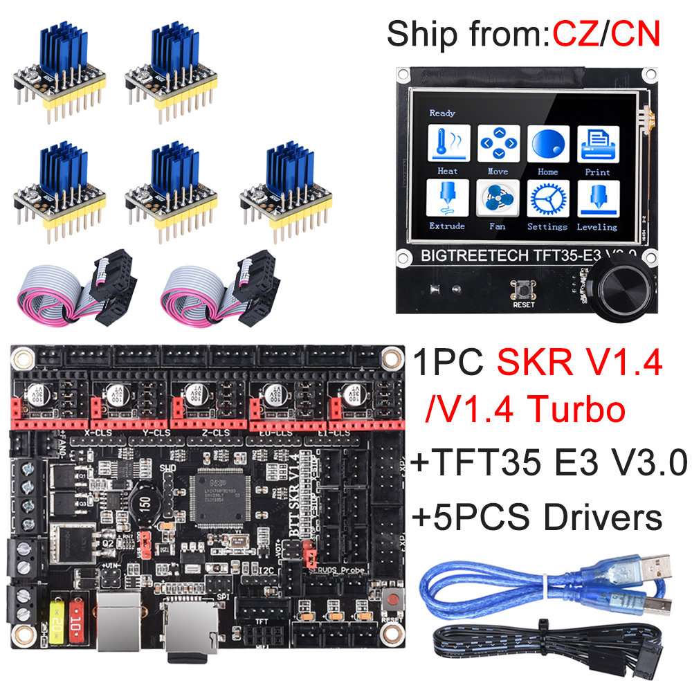 BIGTREETECH SKR V1.4 SKR V1.4 Turbo Control Board TFT35 E3 V3.0 Touch Screen+TMC2209 UART TMC2208 Upgrade SKR V1.3 For Ender 3