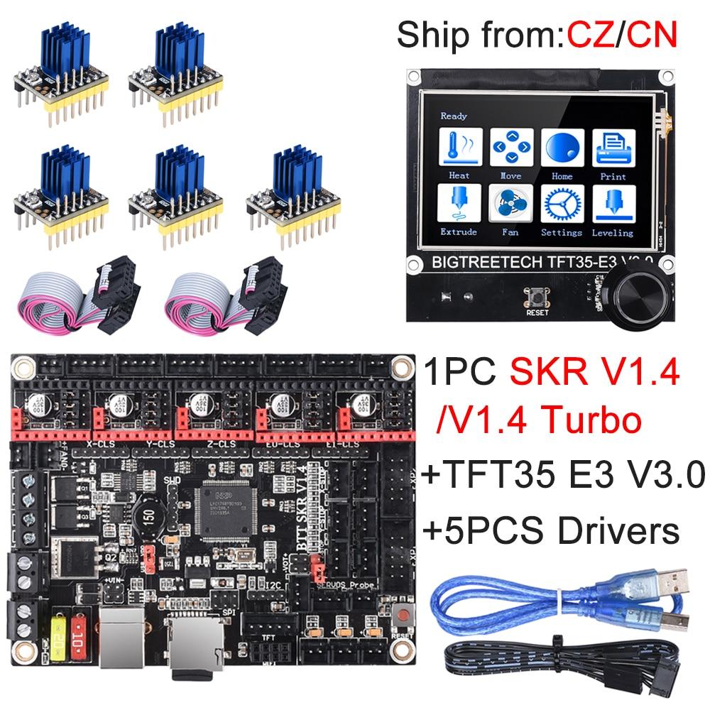 BIGTREETECH SKR V1.4 SKR V1.4 плата турбо управления TFT35 E3 V3.0 сенсорный экран + TMC2209 UART TMC2208 обновление SKR V1.3 для Ender 3