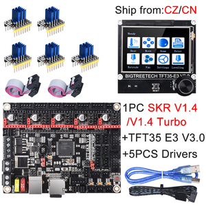 Image 1 - BIGTREETECH SKR V1.4 SKR V1.4 Turbo Control Board TFT35 E3 V3.0 Touch Screen+TMC2209 UART TMC2208 Upgrade SKR V1.3 For Ender 3