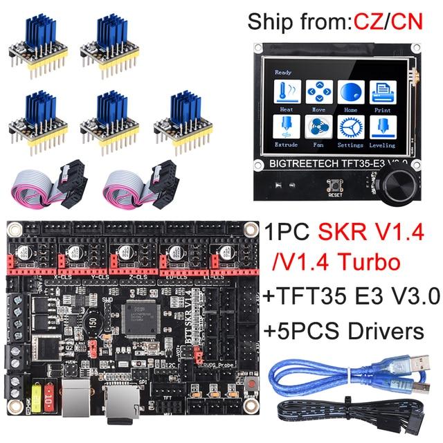 BIGTREETECH SKR V1.4 SKR V1.4 Turbo Control Board TFT35 E3 V3.0 Touch Screen+TMC2209 UART TMC2208 Upgrade SKR V1.3 For Ender 3