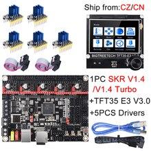 Placa de Control Turbo BIGTREETECH SKR V1.4, TFT35, E3, V3.0, pantalla táctil + TMC2209, UART, TMC2208, actualización SKR V1.3 para Ender 3