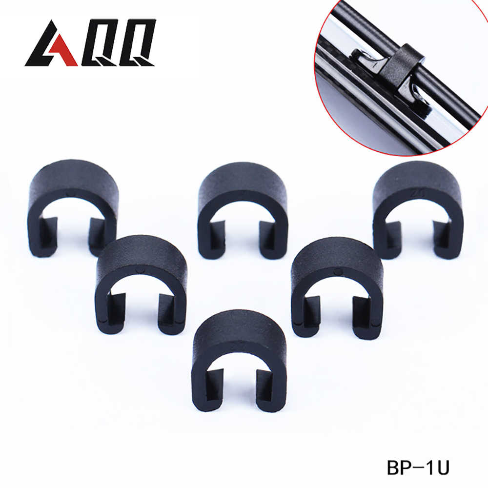 Bike Bicycle Cycle C-Clips Fixing Button Buckles Hose Brake Gear Cable Guide