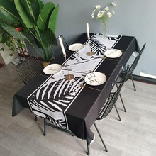 Black Tablecloth Hotel Square Tablecloths Dining Table and Coffee Table Cover Water and oil proof