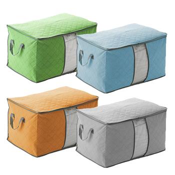 Kołdra koc uchwyt włóknina schowek pudełko pyłoszczelne opakowanie strunowe szafa zaoszczędź przestrzeń organizator duża pojemność etui na ubrania tanie i dobre opinie 13 drutu Ekologiczne Składane Zaopatrzony Włókniny tkaniny Trójwymiarowy typu Plac Odzież 60 x 42 x 36cm storage bag