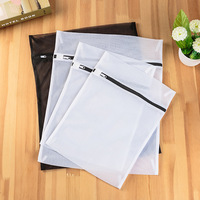 Mesh Laundry Bags for Washing Machine Travel Clothes Storage Net Zip Black and White Bag for Wash Clothes Stocking and Underwear