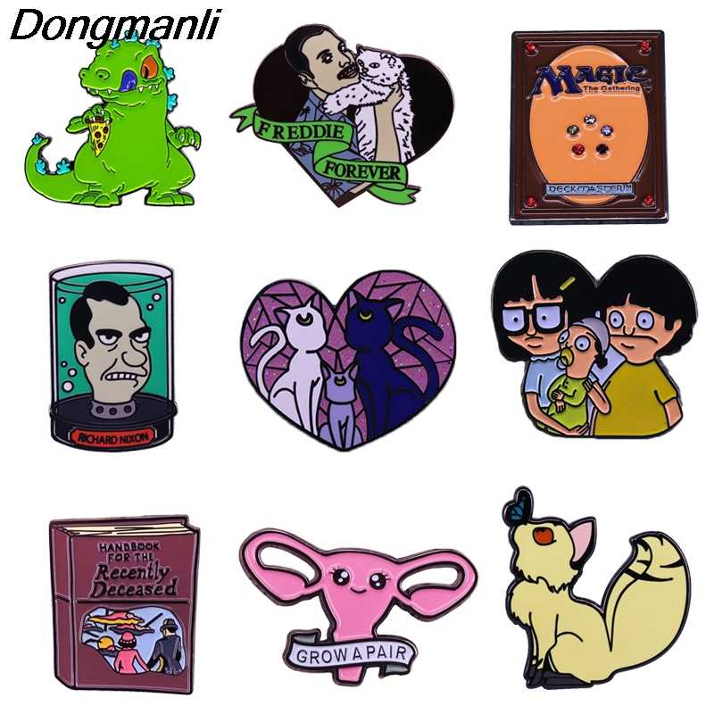 P4709 Dongmanli Mode Anime Figuur Broches Emaille Pins Custom Broches Revers Rugzak Badge Sieraden Vrienden