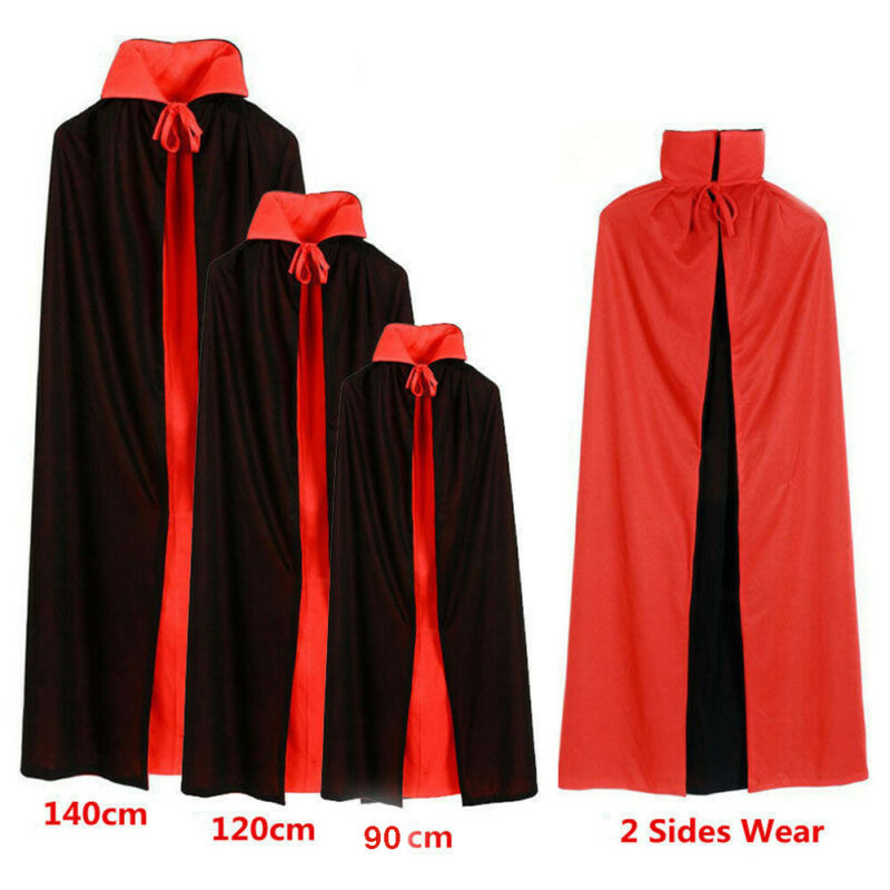 Halloween Cosplay Vampire Cloak Reversible Adult Costumes Dracula Devil Cape Unisex For Men And Women Vampire Capes Hooded Cloak
