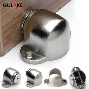 Hardware Door-Stopper Furniture Magnetic-Holder Floor-Mounted Satin Powerful Nickel Brushed