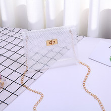 Women Transparent Clear Headbags Ladies Cute Shoulder Bags Female Casual Business Crossbody Bag Girls Mini Small Bags(China)