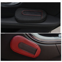 עור אוניברסלי אוטומטי רגל כרית הברך כרית רכב דלת זרוע Pad עבור כל רכב רכב אביזרי רכב מגן רכב סטיילינג
