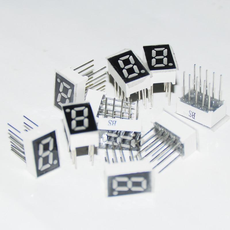 20pcs LED Display 7 Segment Module Tube 1BIT Blue 0.32inch Common Cathode  0.32