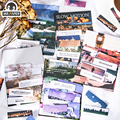 Mr. Бумаги 8 видов конструкций 60 шт./пакет жизнь замедленной съемки серии Ins Стиль Творческий рук DIY Декор коллаж наклейки на Материал