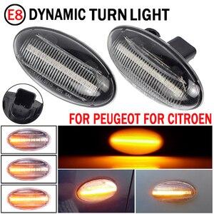 Image 5 - 2 pces para citroen c6 2005 2012 luz de sinal de volta dinâmica led lado fender marcador indicador sequencial blinker
