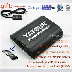 Yatour bezprzewodowy zestaw głośnomówiący Bluetooth zasilacz samochodowy YTBTA dla mercedes Benz 10-pin wejście AUX bezprzewodowy A2DP odtwarzania darmowa wysyłka