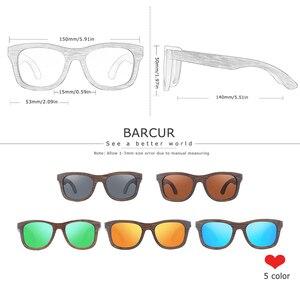Image 2 - BARCUR Wood Sunglasses Bamboo Brown Full Frame Wooden Sun Glasses Men Polarized Vintage Women Eyewear