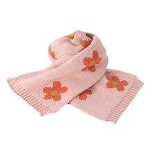 Новинка года; сезон осень-зима; модная детская вязаная шаль; шерстяной утепленный ветрозащитный шарф; теплые зимние шарфы для детей;# O25