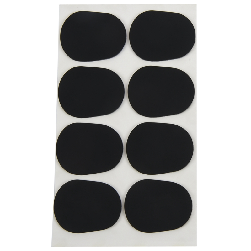 ELOS-16pcs Alto/tenor Sax Clarinet Mouthpiece Patches Pads Cushions, 0.8mm Black, 16 Pack