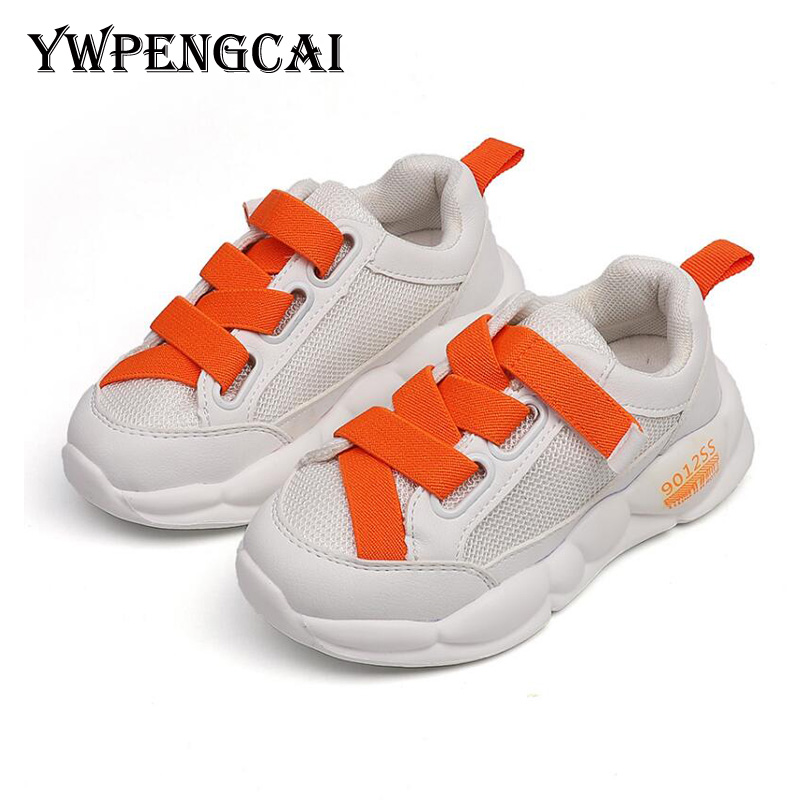 YWPENGCAI 2020 Autumn Children Shoes Girls Sneakers Kids White Shoes Soft Comfortable Boys Sport Running Shoes Size 22-37