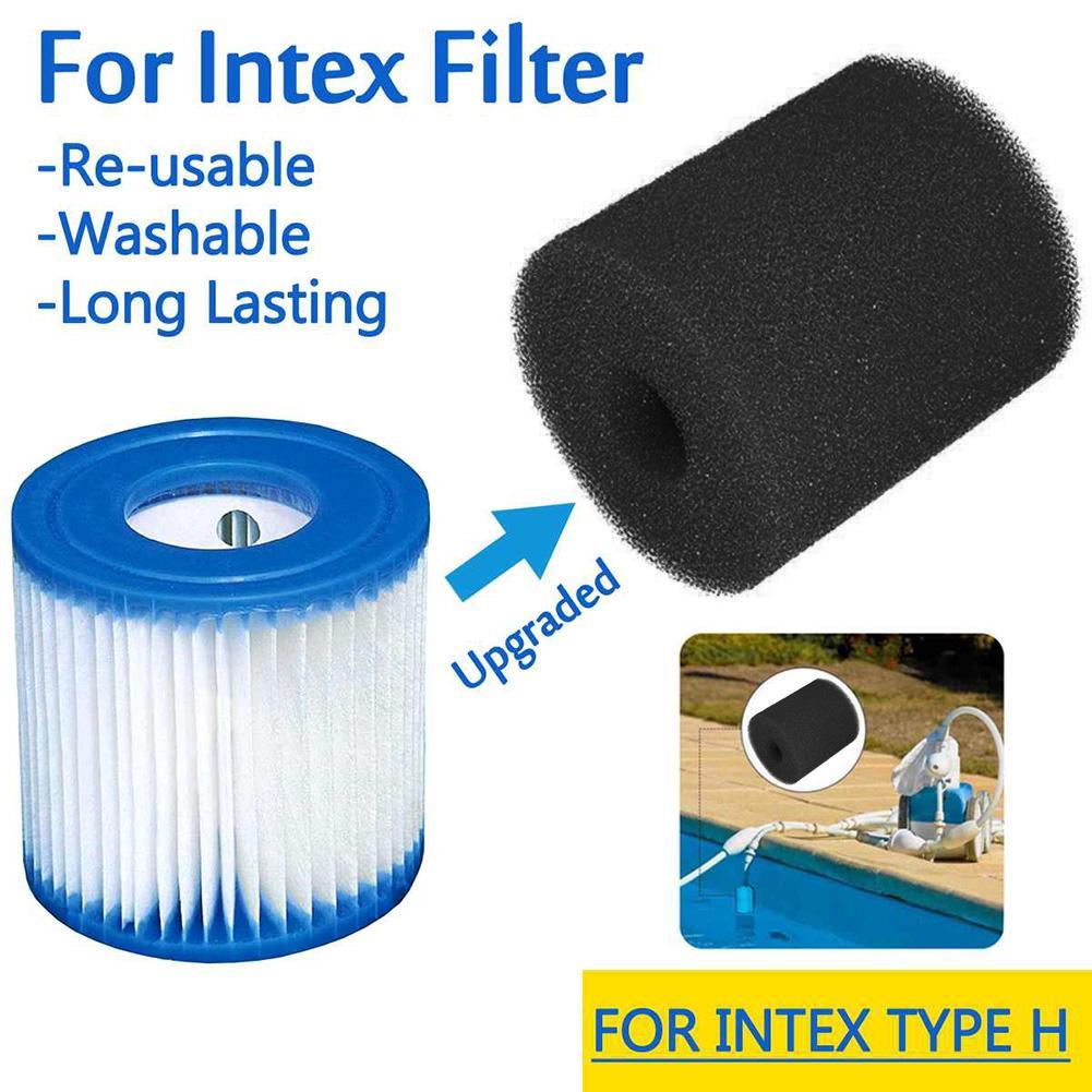 3 Sizes Black White Swimming Pool Filter Foam Sponge Intex S1 Type Reusable Washable Cartridge Foam Suit Intex Bubble Jetted