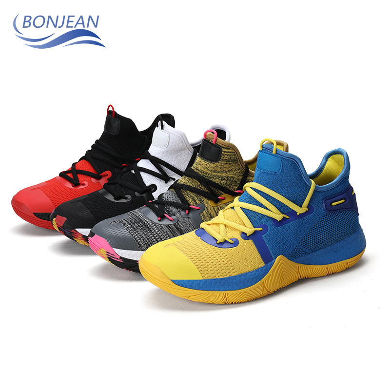BONJEAN Trend New Men Basketball Shoes Breathable Anti slip Wear resistant Lace up Sneakers  Rebound Gym Outdoor Sports Shoes|Basketball Shoes| |  - title=