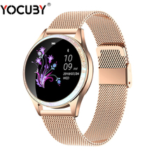 Bluetooth Smart Watch Women Full Screen Diamond Alloy Smartwatch Heart Rate Monitor Sport Lady Watch for IOS Andriod xiaomi KW20