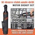 Электрический гаечный ключ, 90 градусов, перезаряжаемый трещотка, большой крутящий момент, JDH99