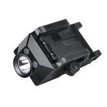 Trustfire GM21 taktik el feneri silah işık USB şarj edilebilir tabanca ışık avcılık far Glock Picatinny ateşli silahlar