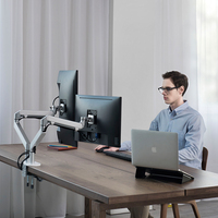 LARICARE Gas Spring Dual Monitor Desk Mount With Dual VEAS part
